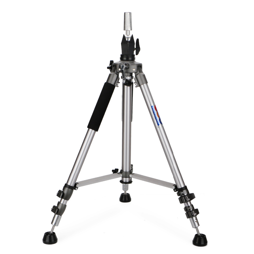 Hair Salon Adjustable Metal Moving Tripod for Wig Head Manikin Head, Hairstyles Wig Mannequin Head Stand Holder steel mannequin tripod stand hair salon adjustable tripod wig stand hairdressing training head clamp holder