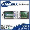 LO-DIMM 667 Mhz Desktop Memória Ram 1 GB DDR2 PC2-5300 240-pin/CL5/1.8 v combinar perfeitamente com todos os marca de placas-mãe de computador PC