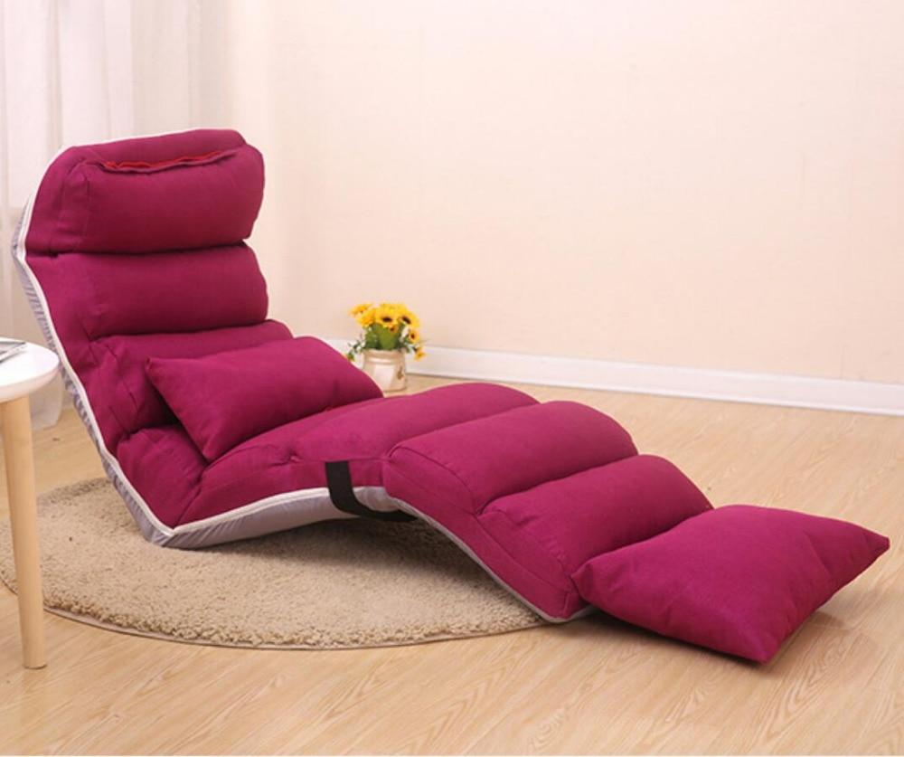 Lazy Tatami Folding Recliner Chair Creative Leisure Sofa Folding Easy Space Saving&Easy Carry inflatable sofa sectional sofa