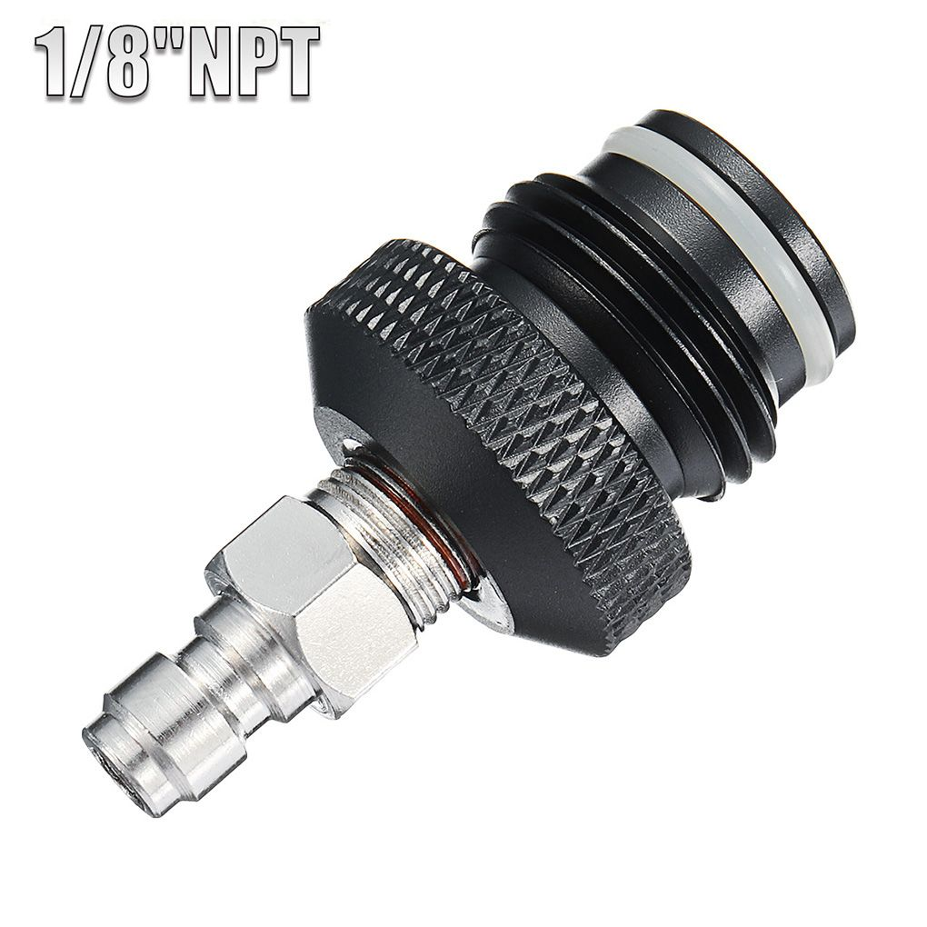 ASA Adapter To Coil Remote Hose Line With Male Quick Disconnect Plug For Paintball 1/8