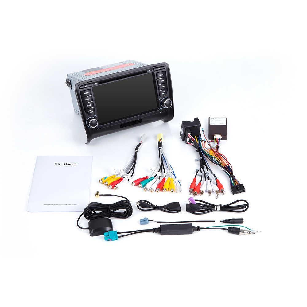 Reprodutor multimídia do carro 2 din android 9.0 para audi tt mk2 8j 2016 2007 2008 2009 2010 2011 2012014 sistema de navegação gps rádio dvd