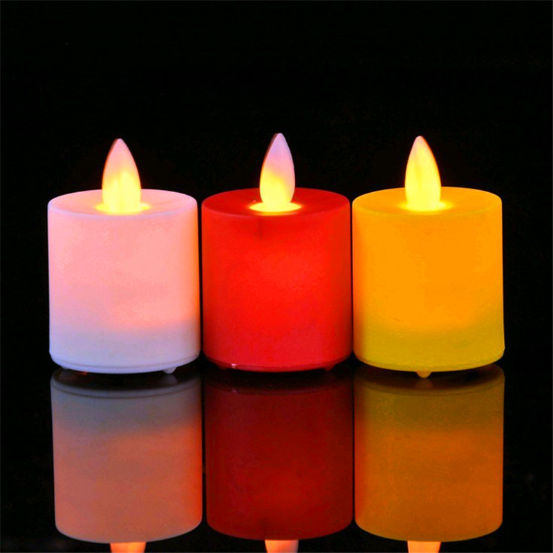 Pack of 12 Yellow White Red Moving Wick Flameless LED Candles,Battery Operated Dancing LED Swing Candles Tea Lights bison rolling grill