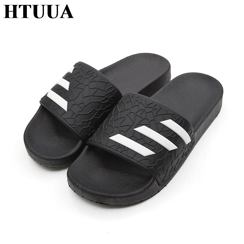 купить HTUUA 2018 Brand Slippers Men Women Indoor House Home Slippers Outdoor Beach Flip Flops Flat Shoes Summer Slides SX1234 недорого