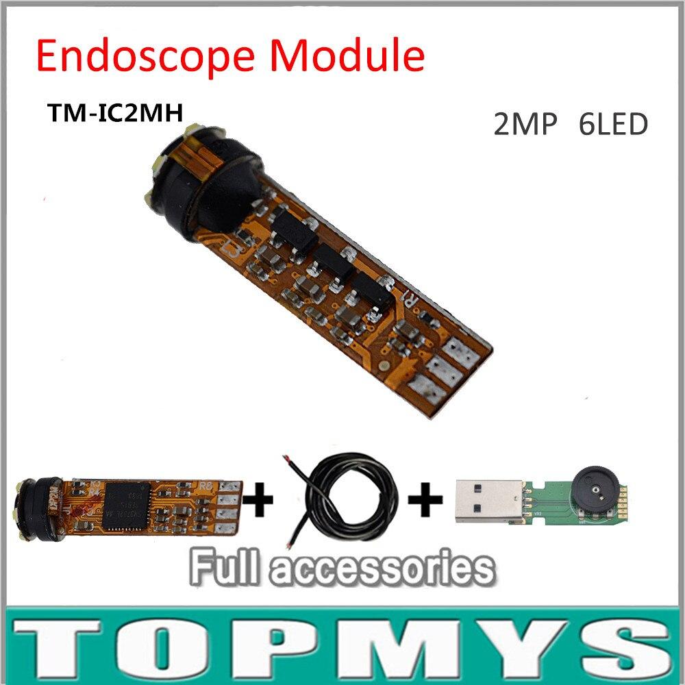Date 2.0MP HD Mini 7.8mm USB Endoscope Caméra Module pour DIY1600 * 1200 Caméra D'inspection 6 LED Accessoires complets TM-IC2MHD