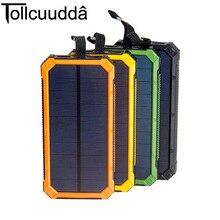 Портативное солнечное зарядное устройство 10000mAh на открытом воздухе аварийная внешняя батарея для мобильных телефонов, планшетов