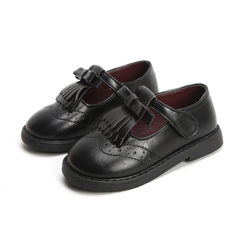 Black Shoes For Girls School Leather