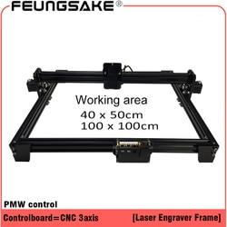 laser machine frame,DIY Mini Laser Engraving Machine for connect 15w laser TTL 5500mw 2500mw PMW 100*100,40*50cm laser carving