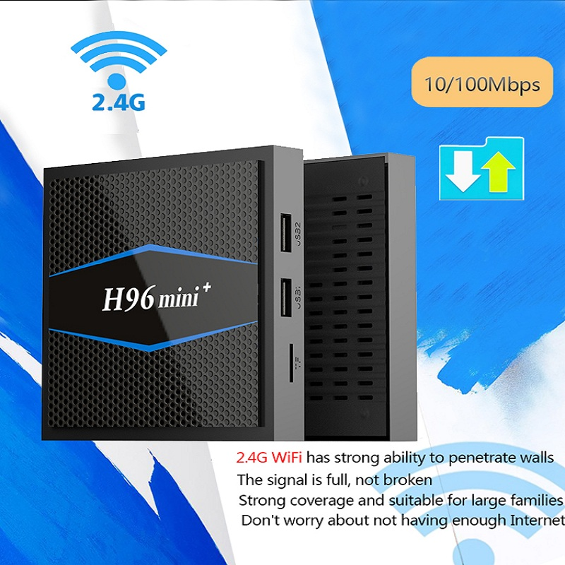 H96 Mini Smart Tv Box Android 7.1 2.4G 5GHz Wifi Bluetooth 4K Set Top Boxes android Tv Box Media Amlogic S905W Quad Core 2G 16G цена