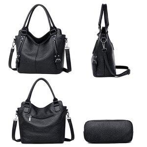 Image 4 - Kadın çanta deri lüks kadın çantası tasarımcı büyük kapasiteli alışveriş omuz çantaları kese bayanlar Tote kadınlar için Crossbody çanta