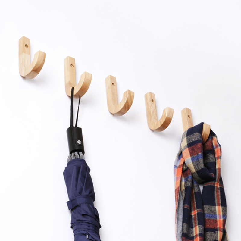 Bathroom Fixtures Bathroom Hardware Creative Wall Hanging Clothes Hanger Coat Rack Bedroom Hook Decorative Nails For Wood Bathroom Accessories Wall Decorative Hooks
