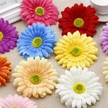 50pcs/bag artificial flowers Silk Flowers Sunflower Flower Heads Wedding car Decoration handmake DIY holiday wedding