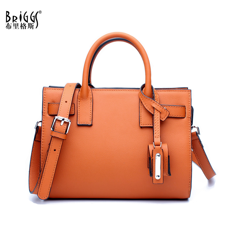 BRIGGS Brand Genuine Leather Women Bag Luxury Handbag For Women Business Designer Bag Leather Shoulder Messenger Bag Casual Tote