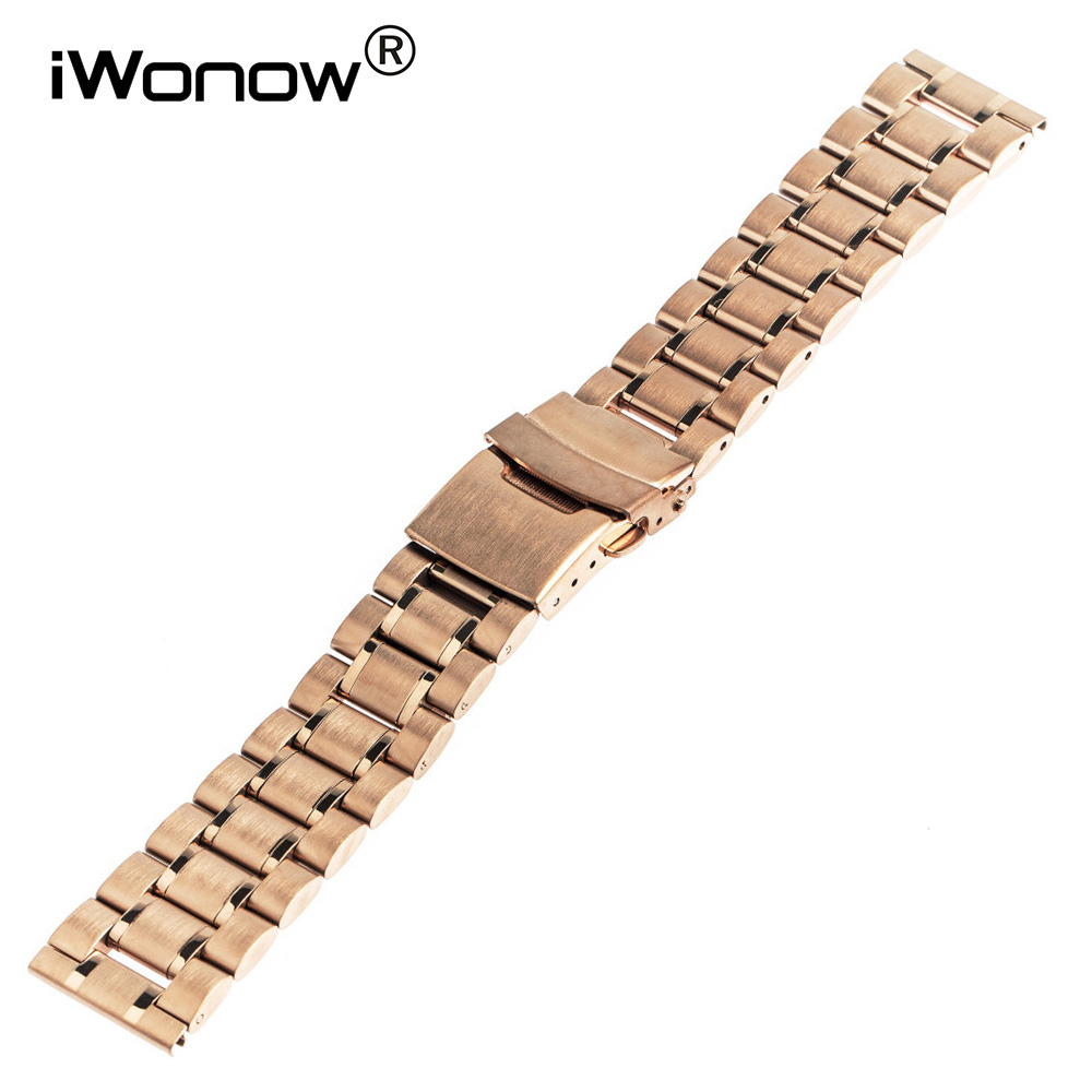 Stainless Steel Watch Band 18mm 20mm for DW Daniel Wellington Safety Buckle Strap Wrist Belt Bracelet Black Rose Gold Silver
