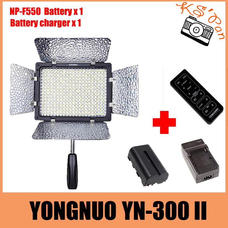 YONGNUO YN-300 II YN300 II LED Camera/Video Light for Canon for Nikon for Olympus for Pentax Samsung + NP-F550 battery + Charger yongnuo yn300 iii yn 300 iii yn300 iii pro led video light for dv camcorder canon nikon pentax olympus samsung panasonic jvc