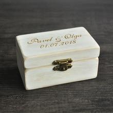 Wedding Ring Box, Wooded Ring Bearer Box