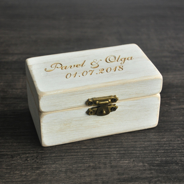 wedding ring box wooded ring bearer boxpersonalized ring boxwood ring - Wedding Ring Box
