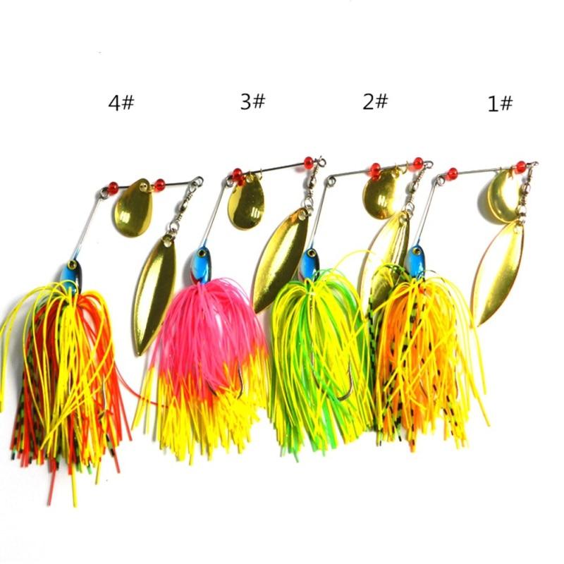 1 PC Beard rubber fishing tackle jig bait hard bait fishing Spinner bait Great Black Bass Metal Fish Mouth