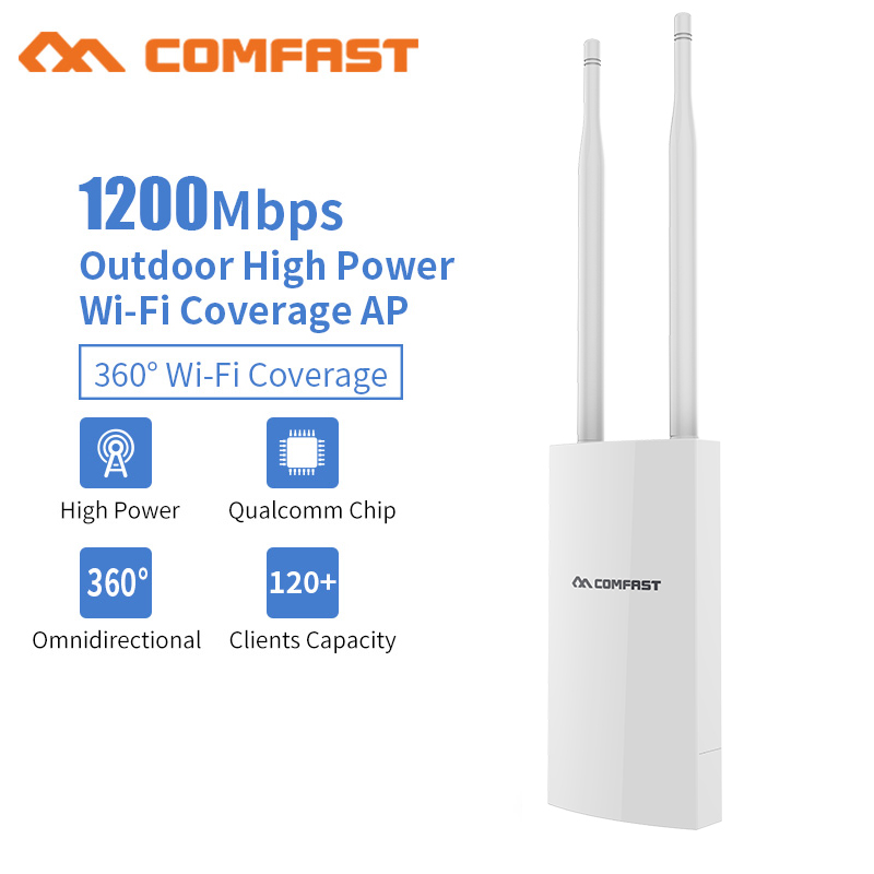 1200Mbps Gigabit PoE Outdoor Wifi Repeater High Power 500mW Wireless wi-fi Range Extender Amplifier 5.8G Access Point Antenna AP outdoor powerful 1300mbps gigabit weatherproof repeater wifi extender access point router wisp antenna directional wi fi ap