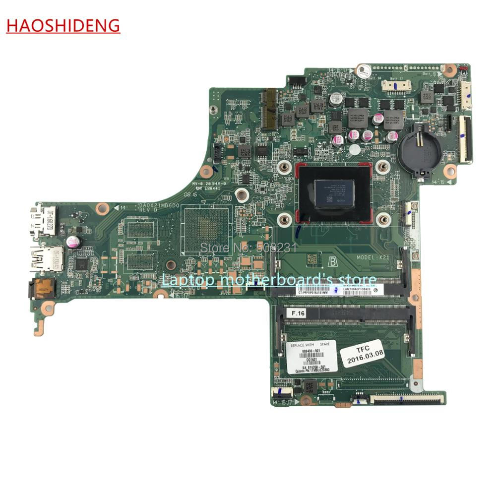HAOSHIDENG 809400-601 809400-501 X21 DA0X21MB6D0 for HP PAVILION 17-G 17Z-G 17-G218CY motherboard with A10-8700P ,fully Tested 744008 001 744008 601 744008 501 for hp laptop motherboard 640 g1 650 g1 motherboard 100% tested 60 days warranty