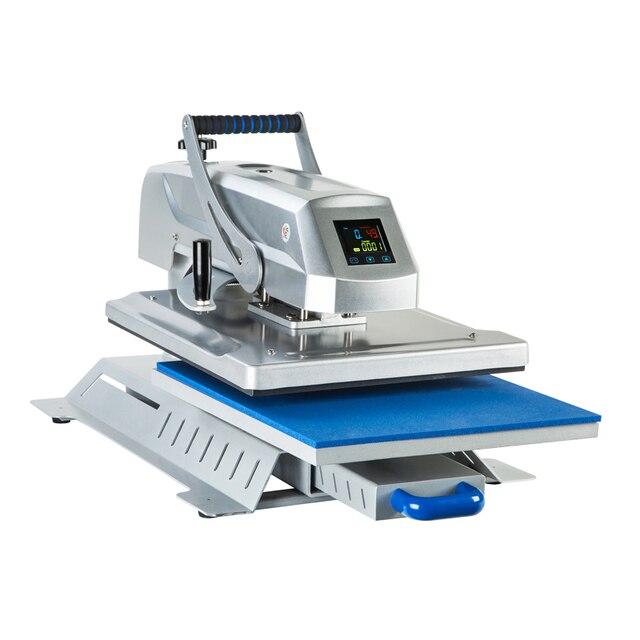 Camiseta de tela de alta presión por sublimación de calor máquina de prensado en caliente manual CH1804 tamaño 40cm x 50cm (16x20 inch)