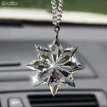 Подвеска в автомобиль, прозрачный кристалл, снежинки, украшение, подвеска, украшение, Ловец Солнца, снежинка, подвесная отделка, рождественские подарки