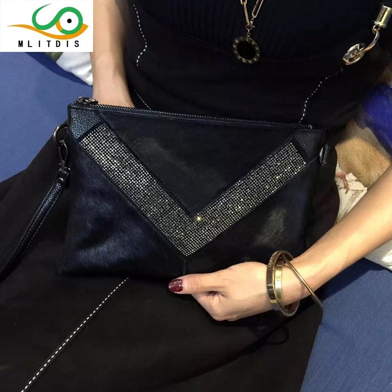 MLITDIS 2017 de invierno de Corea nueva mano sobres ocio diamante del bolso del