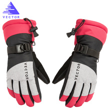 цена на VECTOR Ski Gloves Women Warm Winter Waterproof Skiing Snowboard Gloves Snowmobile Riding Motorcycle Outdoor Snow Gloves