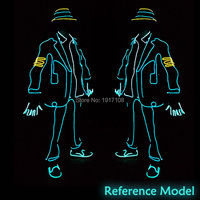 Hot Sale 10 Colors Select EL Suit DIY Party Clothes Accessories By The Style Of LED