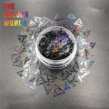 משולש שקעים 10MM גליטר אמנות קישוט איפור עבודת יד כוסות קרפט DIY Accessoires פסטיבל ספק צד
