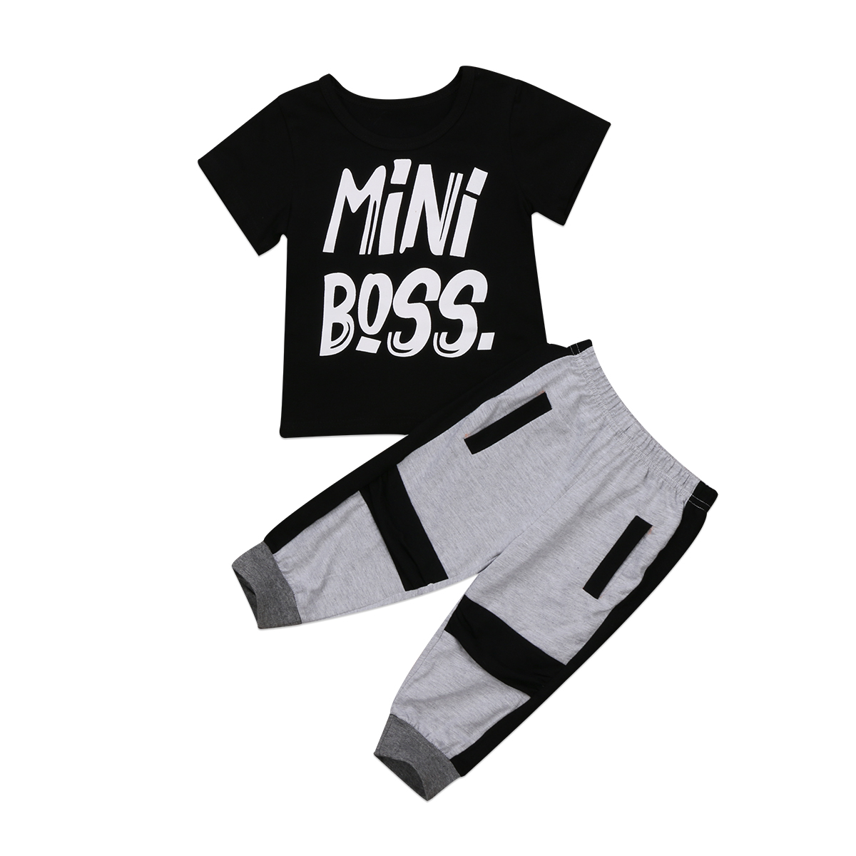 2Pcs Toddler Kids Baby Boy Clothes Sets T-shirt Tops Short Sleeve Pants Harem Outfits Set Cotton Clothing Baby Boys 1-6T 2pcs newborn baby boys clothes set gold letter mamas boy outfit t shirt pants kids autumn long sleeve tops baby boy clothes set
