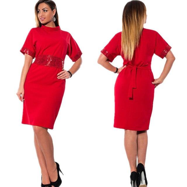c3fe7a48290 La nouvelle graisse MM femmes de grande taille couleur pure robe d été à  manches