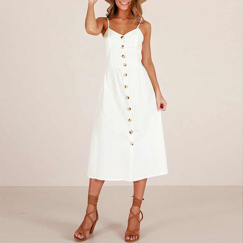 AvoDovA женские длинные платья 2019 летние пляжные женские сексуальные спагетти ремень печати Сарафан повседневные свободные v-образным вырезом до середины икры женское платье