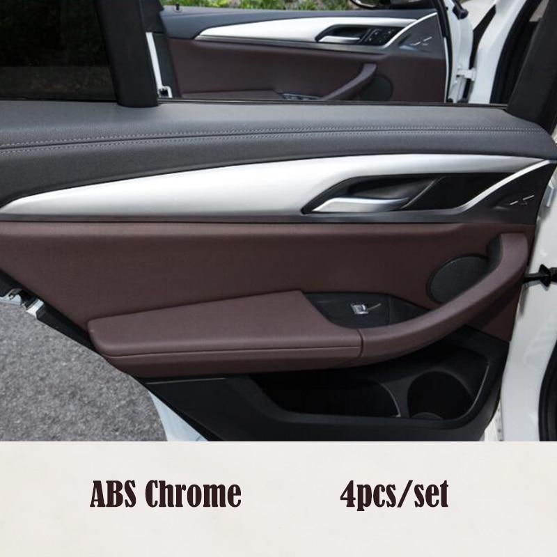 Pour BMW X3 G01 X4 G02 2018 2019 Accessoires De Voiture ABS En Plastique Chrome Intérieur de Porte De voiture bande de Décoration panneau cadre cover Version
