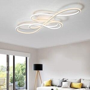 Image 4 - NEO כפול זוהר זוהר מודרני led תקרת אורות חדר שינה סלון אורות תקרת גופי מנורת עמעום lamparas de techo