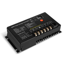 Controlador de carga Solar MPPT de 10A, 12V, 24V, panel de células solares de 10A, regulador de batería, cargador resistente al agua IP64
