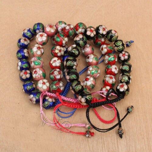 LIVRAISON GRATUITE >>>@@ en gros TOP MODE 12 PCS CHINOIS À LA MAIN Cloisonné Émail Manchette Bracelets
