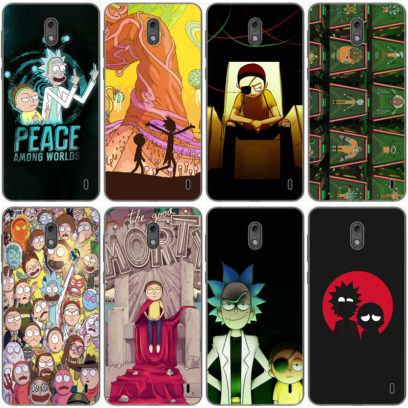 Rick and Morty Custom Phone Case For Nokia 1 2 <font><b>3</b></font> 5 6 <font><b>7</b></font> 8 9 106 2018 Cover for X5 X6 X7 2.1 <font><b>3</b></font>.1 5.1 Plus 3310 2017 230 640 <font><b>950</b></font> XL image