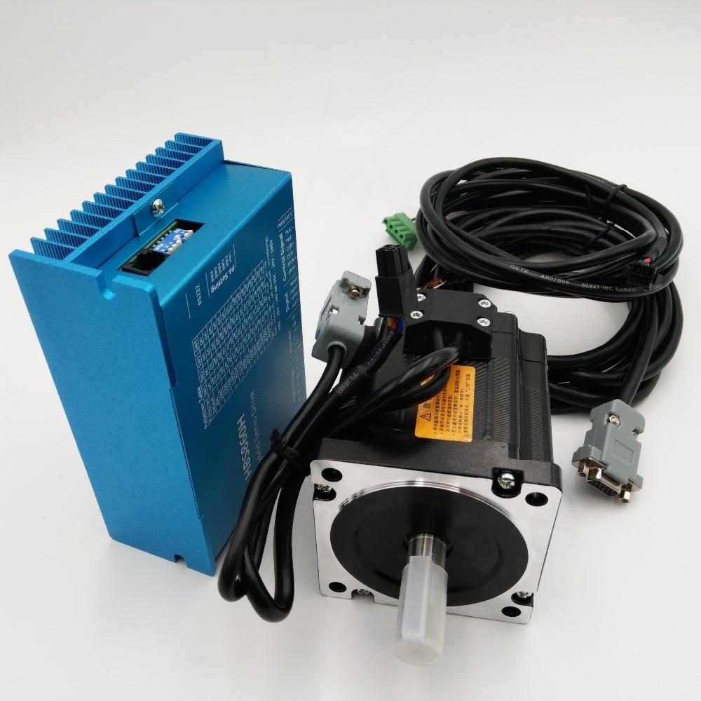 2Ph 4.5Nm Nema34 AC60V CNC Milling Engraving Closed Loop Stepper Drive+Motor+Power kits Supply HBS860H+86HBS45 with Power Supply stepper motor drive 2ph 2a 0 6nm nema23 57mm 24 50vdc for cnc engraving machine 57hs06 m542