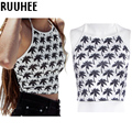 Crop Top Women Hollow out Floral Cropped Female Tank Top Cami Short Tops Sexy Summer Tops New Fashion 2017