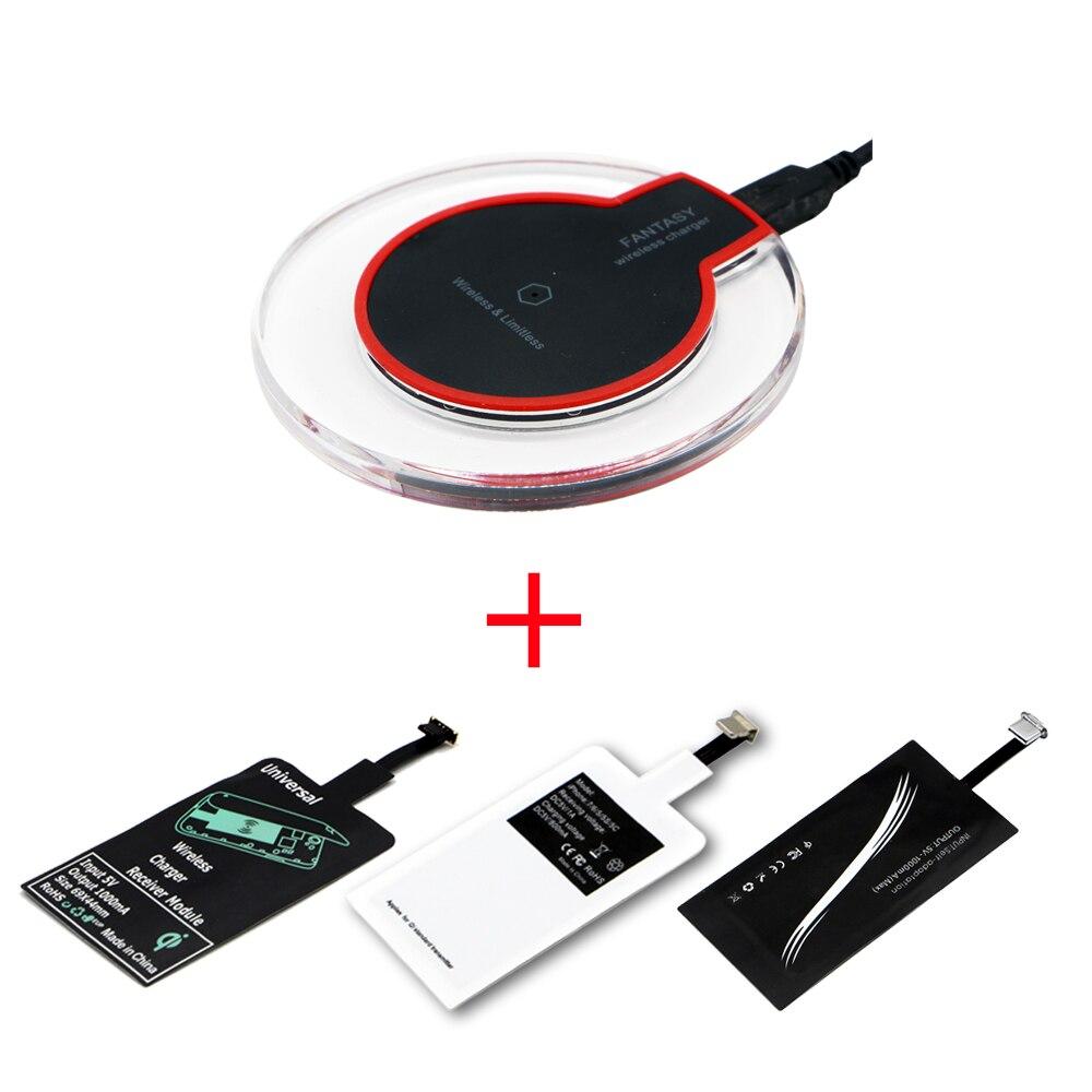 Kit de Carga Inalámbrica Qi Transmisor Cargador Adaptador Receptor Pad Bobina Tipo C Micro Usb Kit para Iphone Xiaomi Huawei