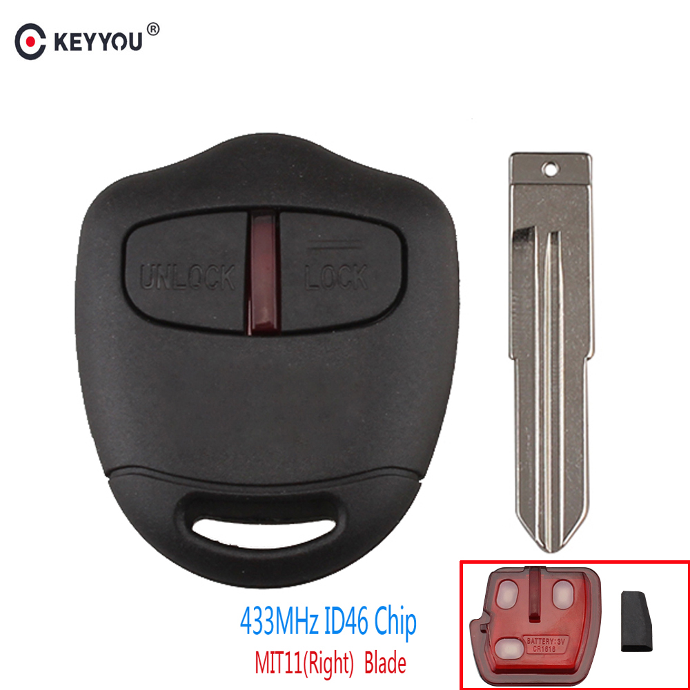 Mitsubishi Outlander Consumer Reviews: Aliexpress.com : Buy KEYYOU 2 Button Remote Car Key Case
