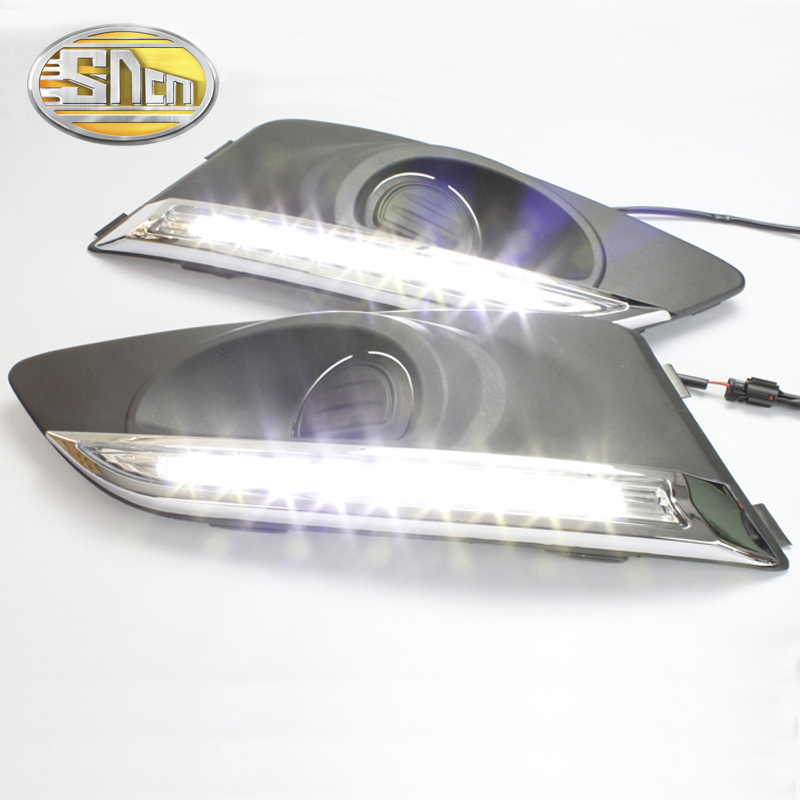SNCN LED Daytime Running Light For Chevrolet Aveo 2011 2012 2013,Car Accessories Waterproof ABS 12V DRL Fog Lamp Decoration sncn 2pcs led daytime running light for nissan sentra 2013 2014 2015 car accessories waterproof abs 12v drl fog lamp decoration