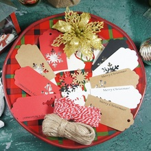 100pcs Merry Christmas theme gift design paper labels packaging decoration tags Scrapbooking Craft Paper  DIY very merry paper christmas