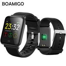Спорт BOAMIGO Новый 2018 смарт-браслет сердечного ритма калорий напоминание Хронограф Спортивные часы Smartwatch для Android IOS Телефон