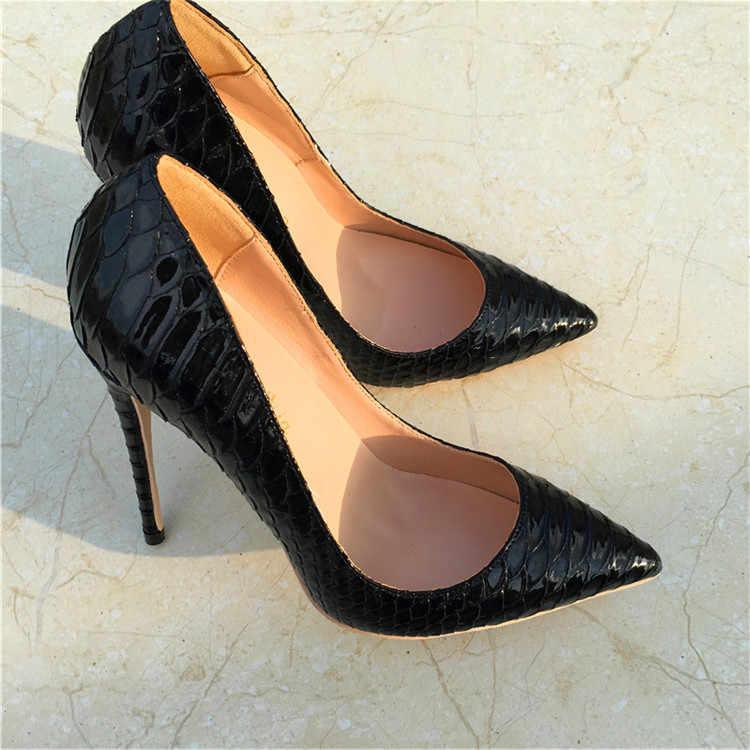 c25b6961aeb 2019 New Fashion free shipping black python snake Poined Toes ...