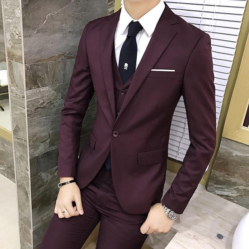 Suits Social 5XL Banquet-Suit Wedding-Dress Business Men's 6XL of Fashion Tuxedo The