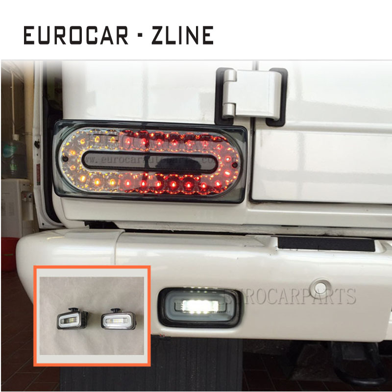 AMG White Led Door Sill Panels for BENZ W463 G63 G65 G350 G400 G55 G500 Silver