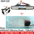 "Auto 4.3""TFT LCD Car Rear View Mirror Monitor Parking Monitor + SONY Car rear view Camera for Nissan March Renault Logan Sandero"