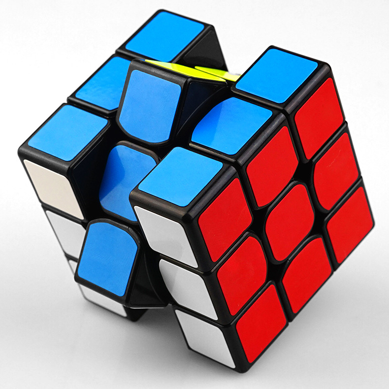 Colorful 3x3x3 Three Layers Magic Cube Profissional Competition Speed Cubo Non Stickers Puzzle Magic Cube Cool Toy Boy cube cubie 120 boy 2015