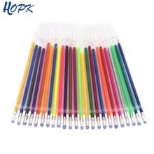 12 Colors/Set Ballpint Gel Pen Highlight Refill Rod Color Ink Full Shinning Painting School Student Drawing